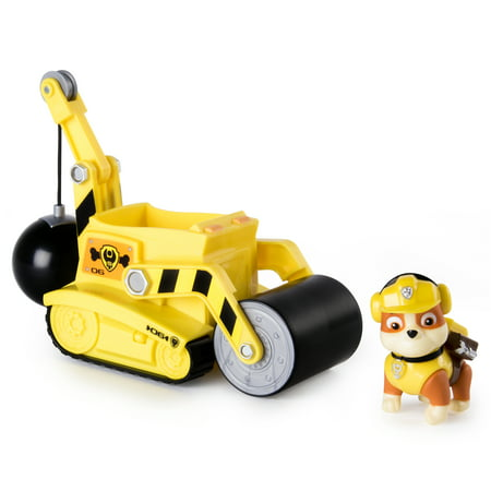 Paw Patrol – Rubble's Steam Roller Construction Vehicle with Rubble Figure - Wilma Rubble