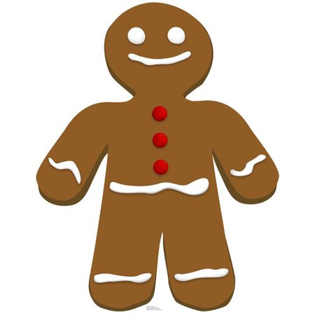 Advanced Graphics Christmas Gingerbread Man Cardboard Stand-Up (Cardboard Fireplace For Christmas)