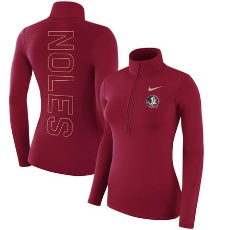 Florida State Seminoles Nike Women's Top Backprint Half-Zip Pullover Performance Jacket - Garnet (Nike Air Max 95 Women)