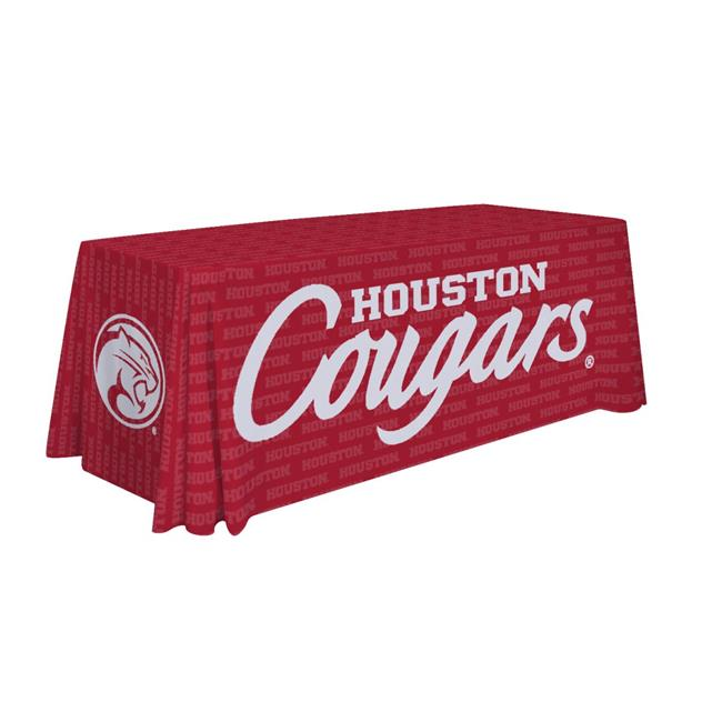 Victory Corps 810026HOUS-003 6 ft. NCAA Houston Cougars Dye Sublimated Table Throw - No.003