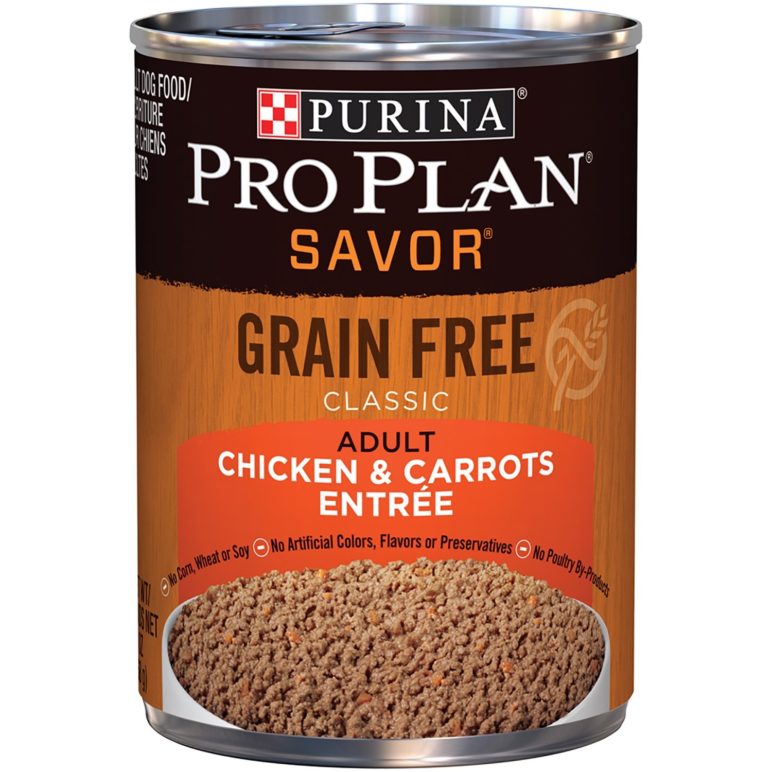 Purina Pro Plan SAVOR Grain-Free Classic Chicken & Carrots Entree Adult Wet Dog Food, Twelve (12) 13 oz. Cans