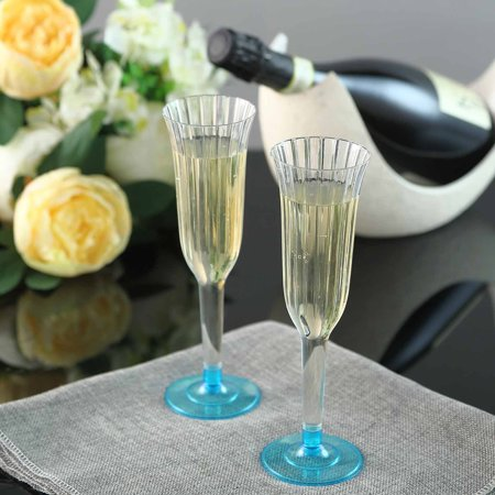 Efavormart 60 Pcs Disposable Clear Plastic  Champagne Flutes for Wedding Birthday Party Banquet Events Cocktail Cups ()