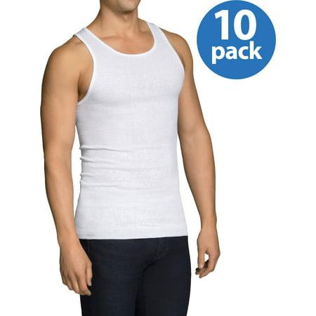 Sleeveless Men Undershirt (Fruit of the Loom Men's Dual Defense Classic White A-Shirts, 10 Pack)