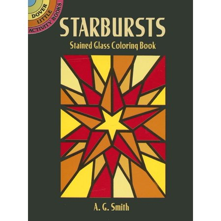 Dover Little Activity Books: Starbursts Stained Glass Coloring Book (Paperback)](Stained Glass Mlp)