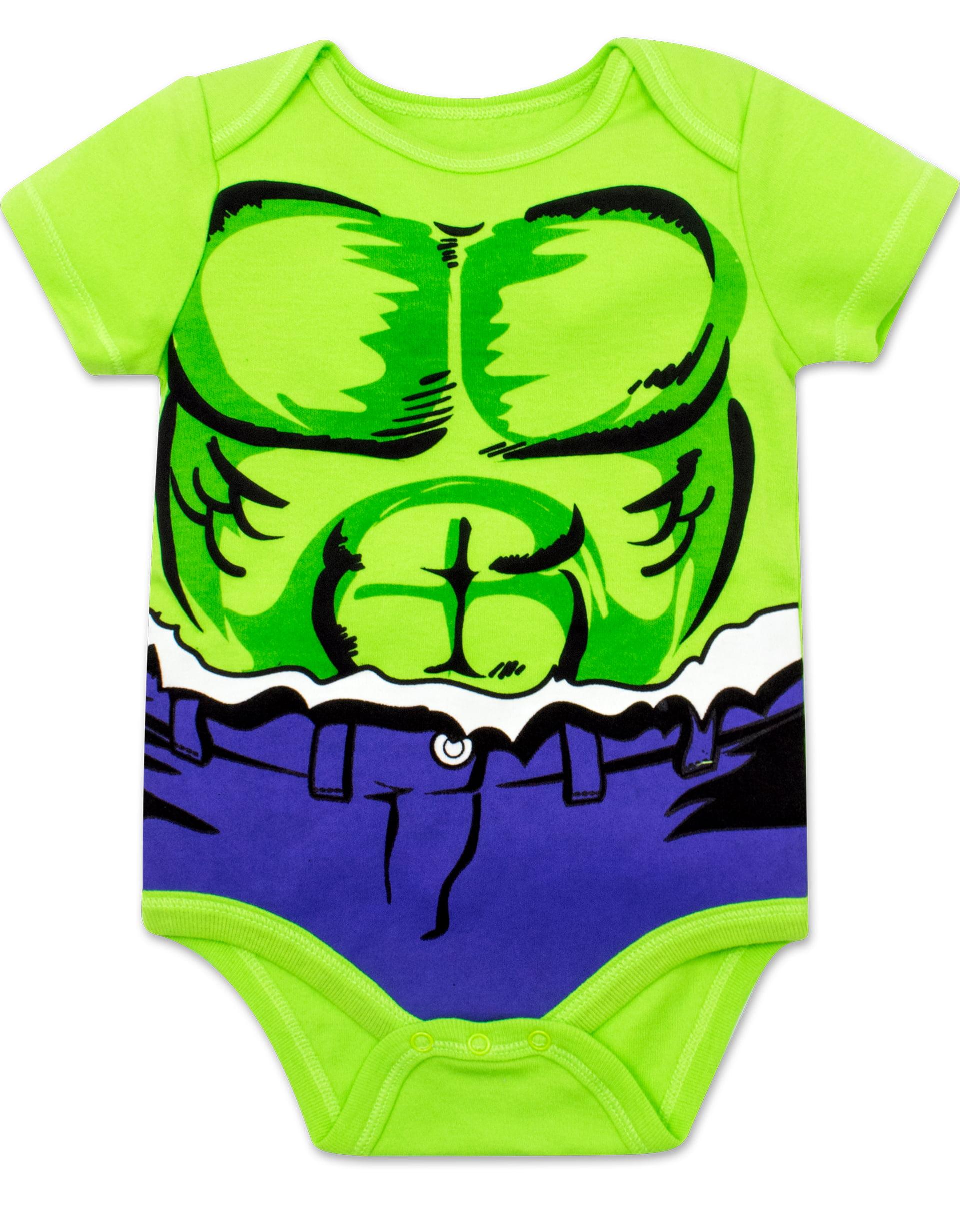 Spiderman Marvel 5-Pack Avengers Baby Boy Onesies with Iron Man Hulk Captain America Thor