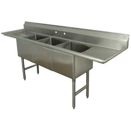 ADVANCE TABCO Scullery Sink,Without Faucet,84 In. L FC-3-1620-18RL-X