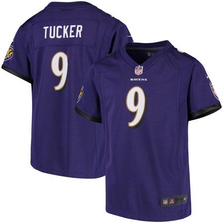 Justin Tucker Baltimore Ravens Nike Girls Youth Game Jersey - Purple (Tree Hill Ravens Jersey)