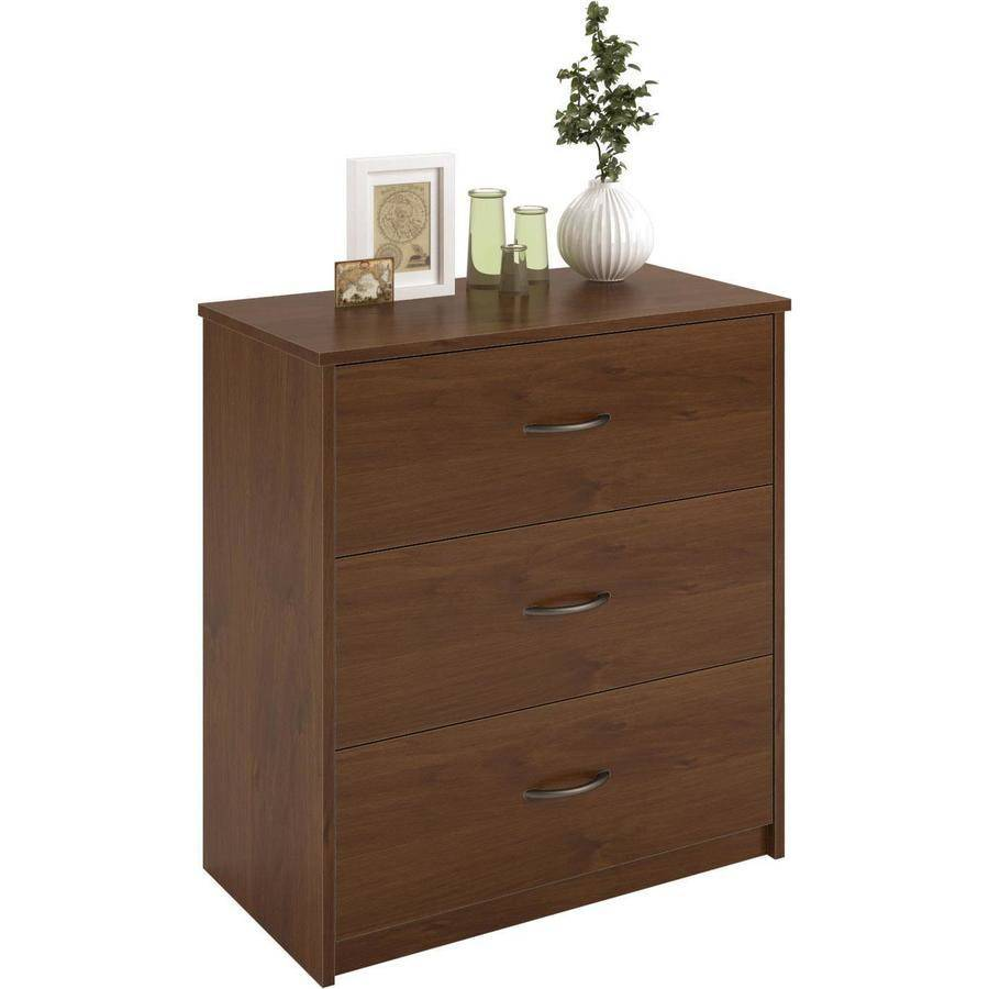 3 Drawer Dresser Chest Bedroom Furniture Black Brown White Storage Wood Modern Ebay