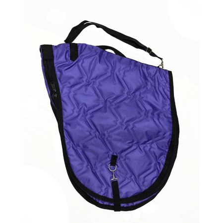 English Saddlebag (English Horse Saddle Carrier Travel Case Bag All Purpose Saddle Quilted Purple )