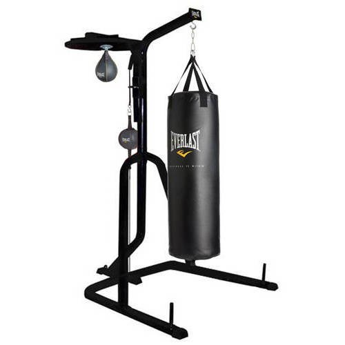 7f5deab5108 Everlast Three-Station Heavy Duty Punching Bag Stand - Walmart.com