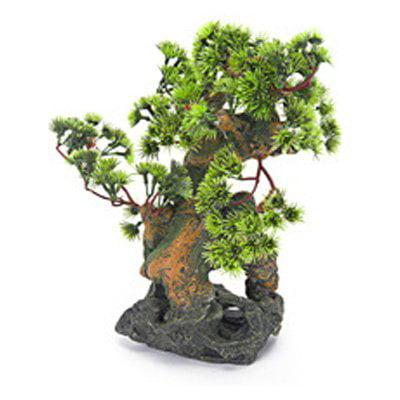 Penn Plax Bonsai Tree on Rocks Aquarium Decor - Style 2