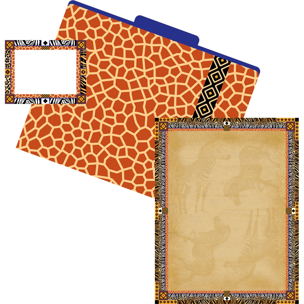 Barker Creek Get Organized Kit (Paper, Labels, and File Folders) - Safari (BC0101)