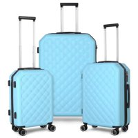 Deals on Travel Trolley Luggage 3-Piece Set Hard Shell Suitcase