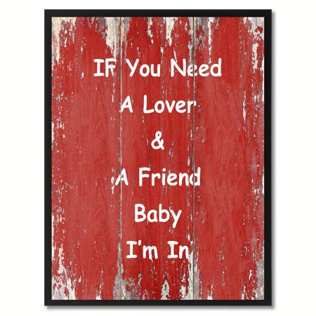 If You Need A Lover & A Friend Baby I'm In Happy Quote Saying Canvas Print Picture Frame Home Decor Wall Art Gift Ideas](Halloween Photo Ideas For Toddlers)