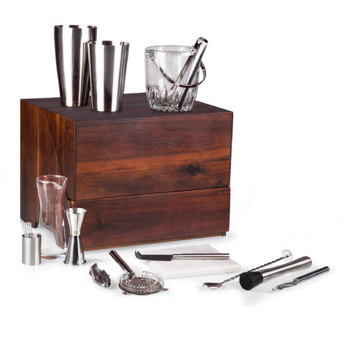 Picnic Time Madison 20 Piece Bar Table Top Set