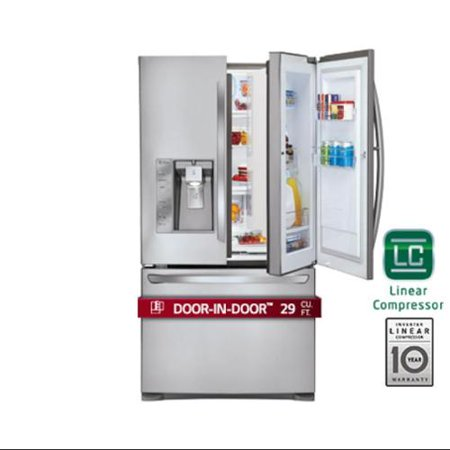 Lg Lfxs29766s 3575quot Wide French Door Refrigerator With 29 Cu