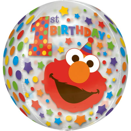 Elmo 1st Birthday Orbz Balloon - Elmo Birthday Theme