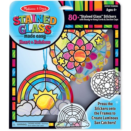 Melissa & Doug Stained Glass Made Easy Activity Kit: Heart and ...