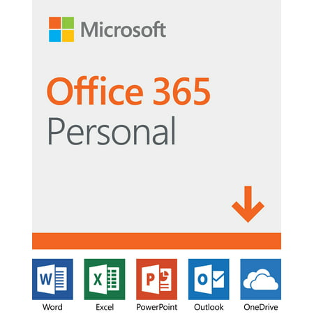Microsoft Office 365 Personal | 12-month Subscription, 1 person, PC/Mac