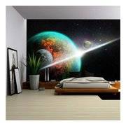 wall26 - Space - Removable Wall Mural | Self-Adhesive Large Wallpaper - 100x144 inches