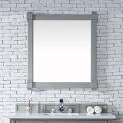 "James Martin Brittany 35"" Mirror in Urban Gray"
