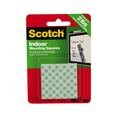 3M Scotch Indoor Mounting Squares, 1-Inch, 48-Square, 4-PACK - image 1 de 1