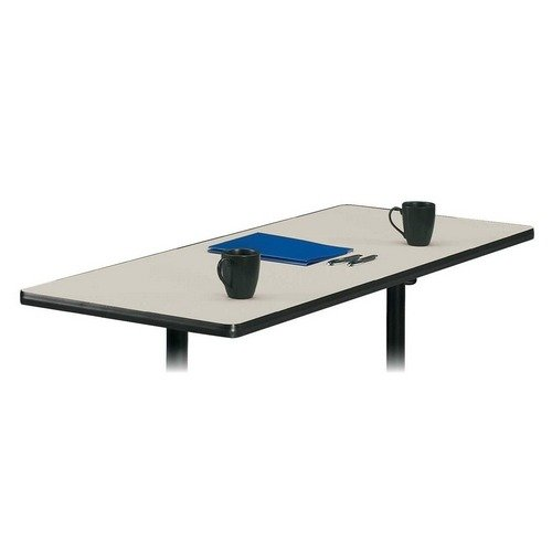 Basyx by HON Rectangular Tabletop, No Grommets, Light Gray