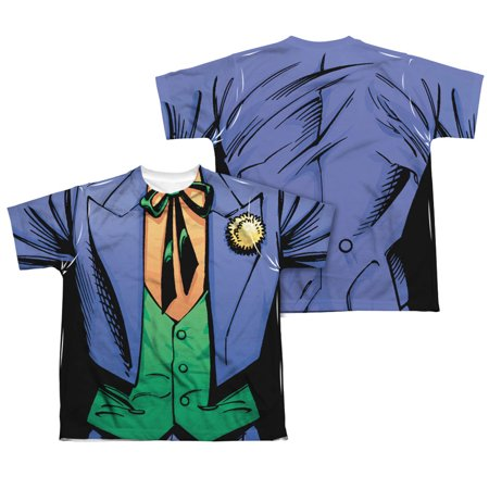 Batman Uniform (Batman Men's  Joker Uniform  Sublimation T-shirt)