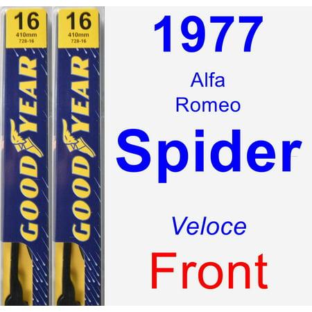 1977 Alfa Romeo Spider (Veloce) Wiper Blade Set/Kit (Front) (2 Blades) - Premium