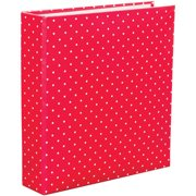 "Project Life Printed Chipboard D-Ring Album, 6"" x 8"", Red Polka Dot"