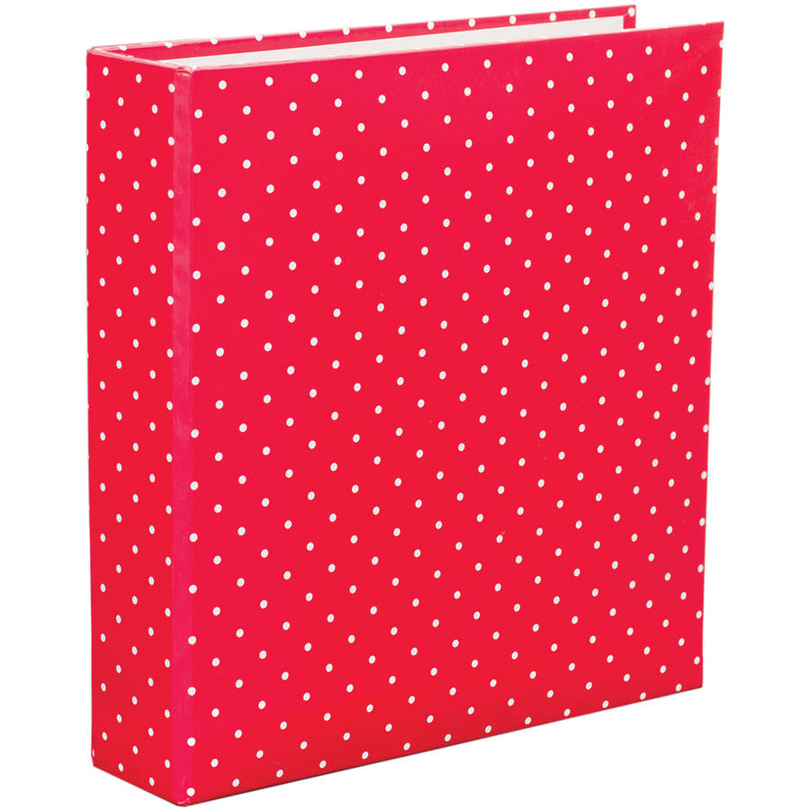 project life printed chipboard d ring album 6 x 8 red