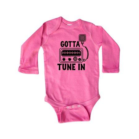 - CB Ham Radio Fan Trucker Gift Long Sleeve Creeper
