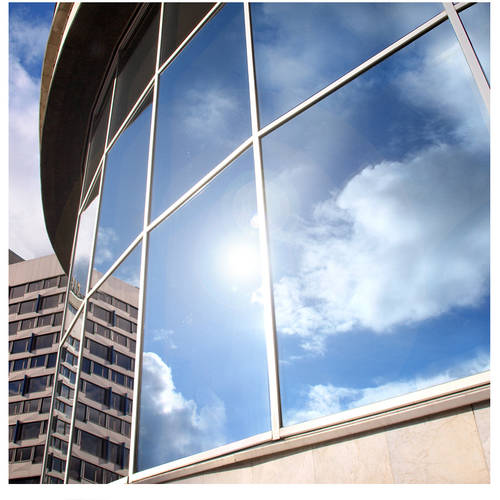 BDF EXS15 Exterior Privacy and Sun Control Silver 15 Window Film (Dark) 36in X 24ft by BuyDecorativeFilm