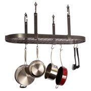 Enclume PR14wg-SS Premier 4-Point Oval Ceiling Rack with Grid, Stainless Steel