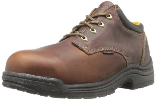 Timberland PRO Men's Titan Safety Toe Oxford,Haystack Brown,8 XW US by Caterpillar