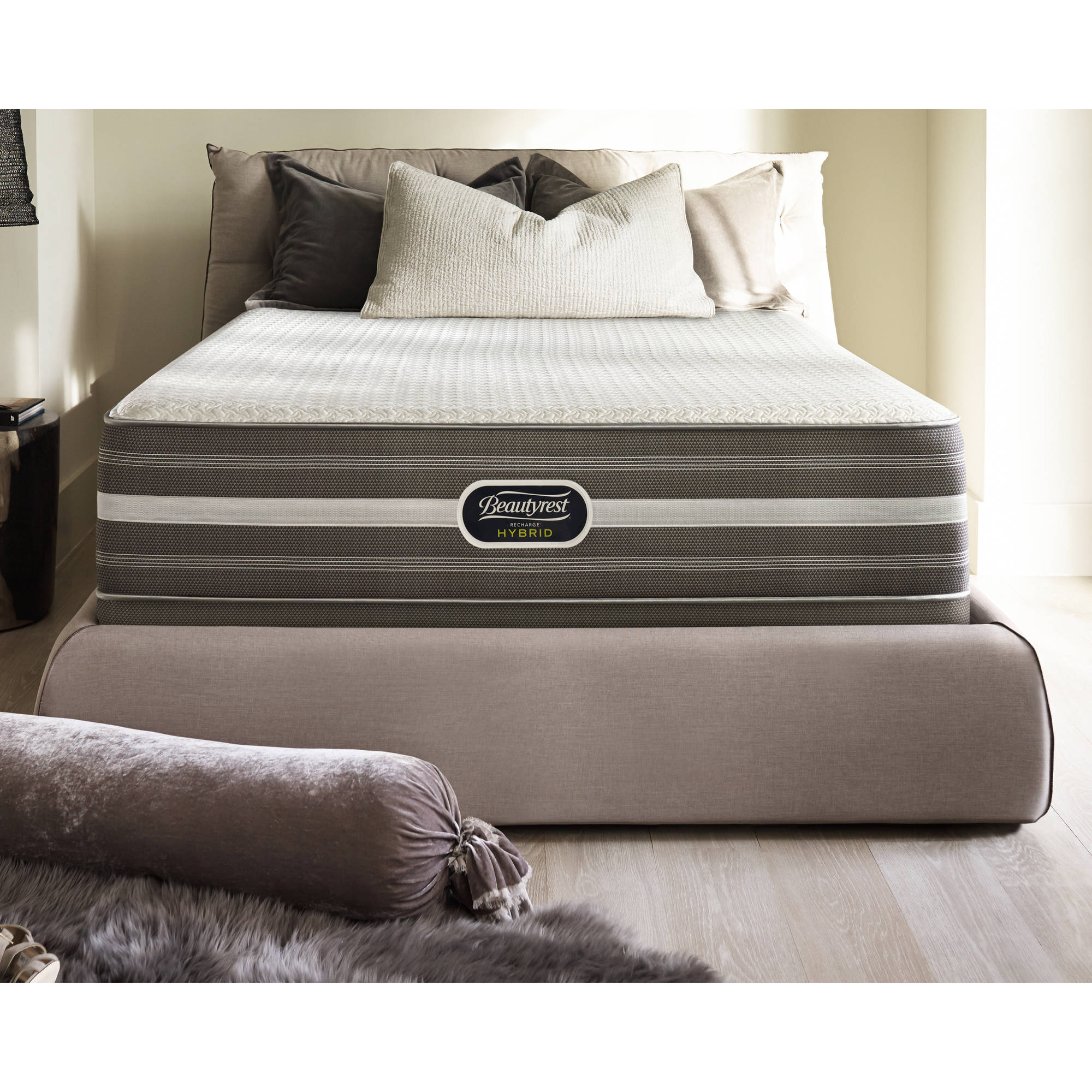 "Beautryrest Recharge Hybrid White Rock Luxury 12"" Firm Mattress, Multiple Sizes"