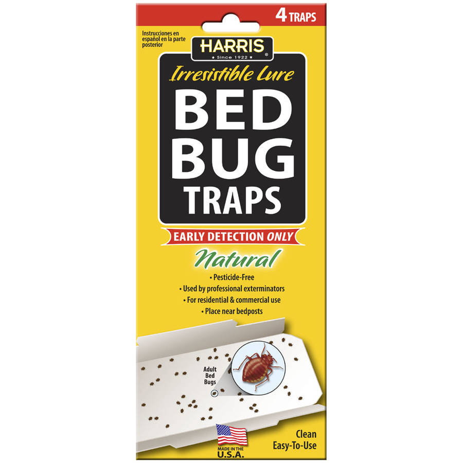 Harris Irresistible Lure Bed Bug Traps, 4 count