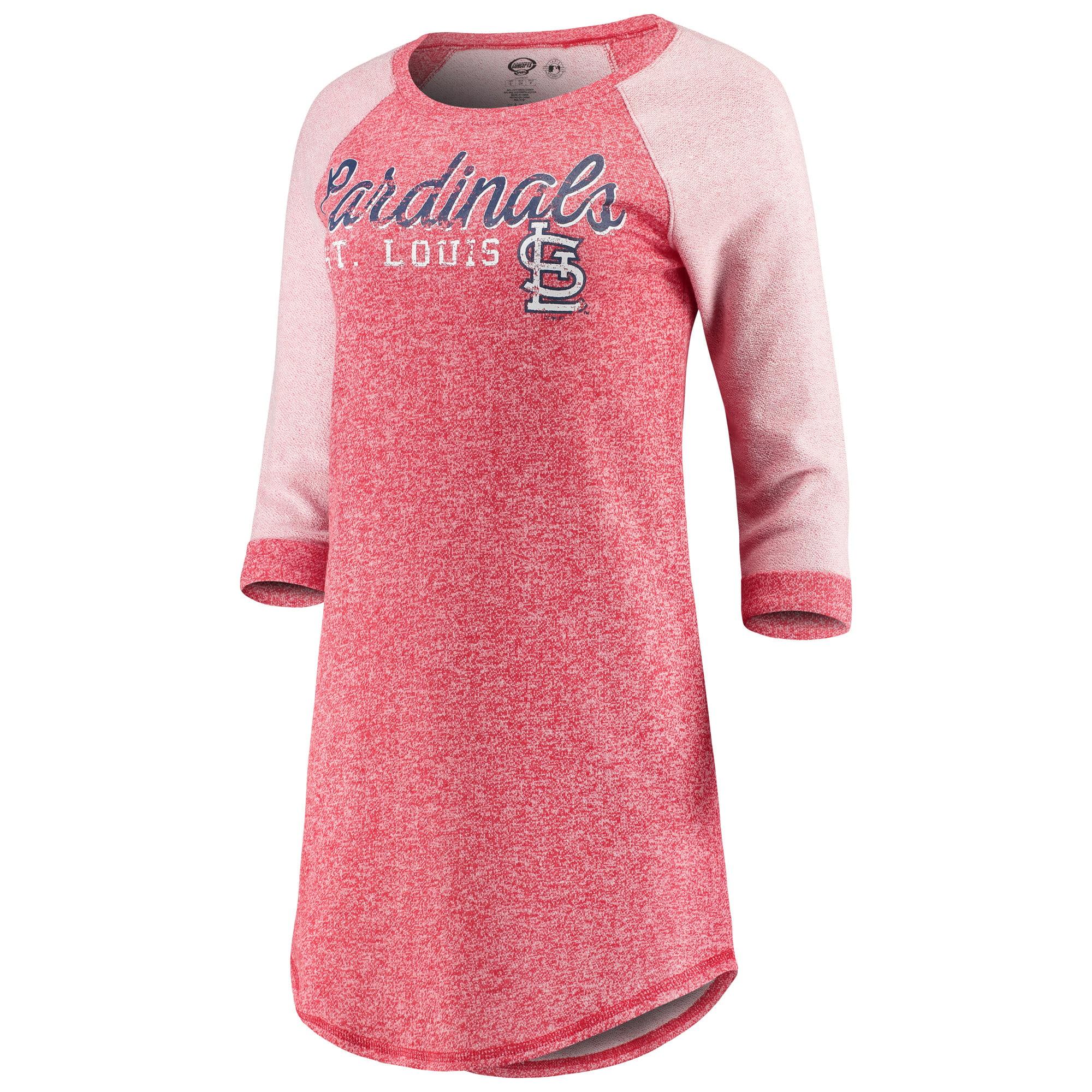 St. Louis Cardinals Concepts Sport Women's Walk-Off 3/4-Sleeve Nightshirt - Red
