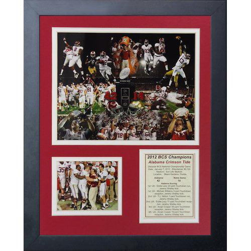 Legends Never Die 2012 Alabama Crimson Tide National Champions Framed Memorabilia