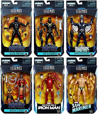 Black Panther Marvel Legends Okoye Series Set of 6 Action Figures by