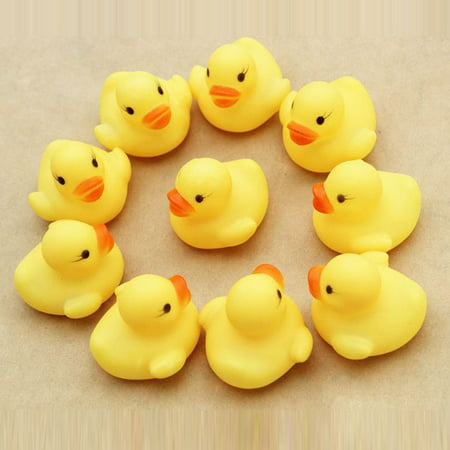 One Dozen (12) Rubber Duck Ducky Duckie Baby Shower Birthday Favors - Rubber Duckies Baby Shower Decorations
