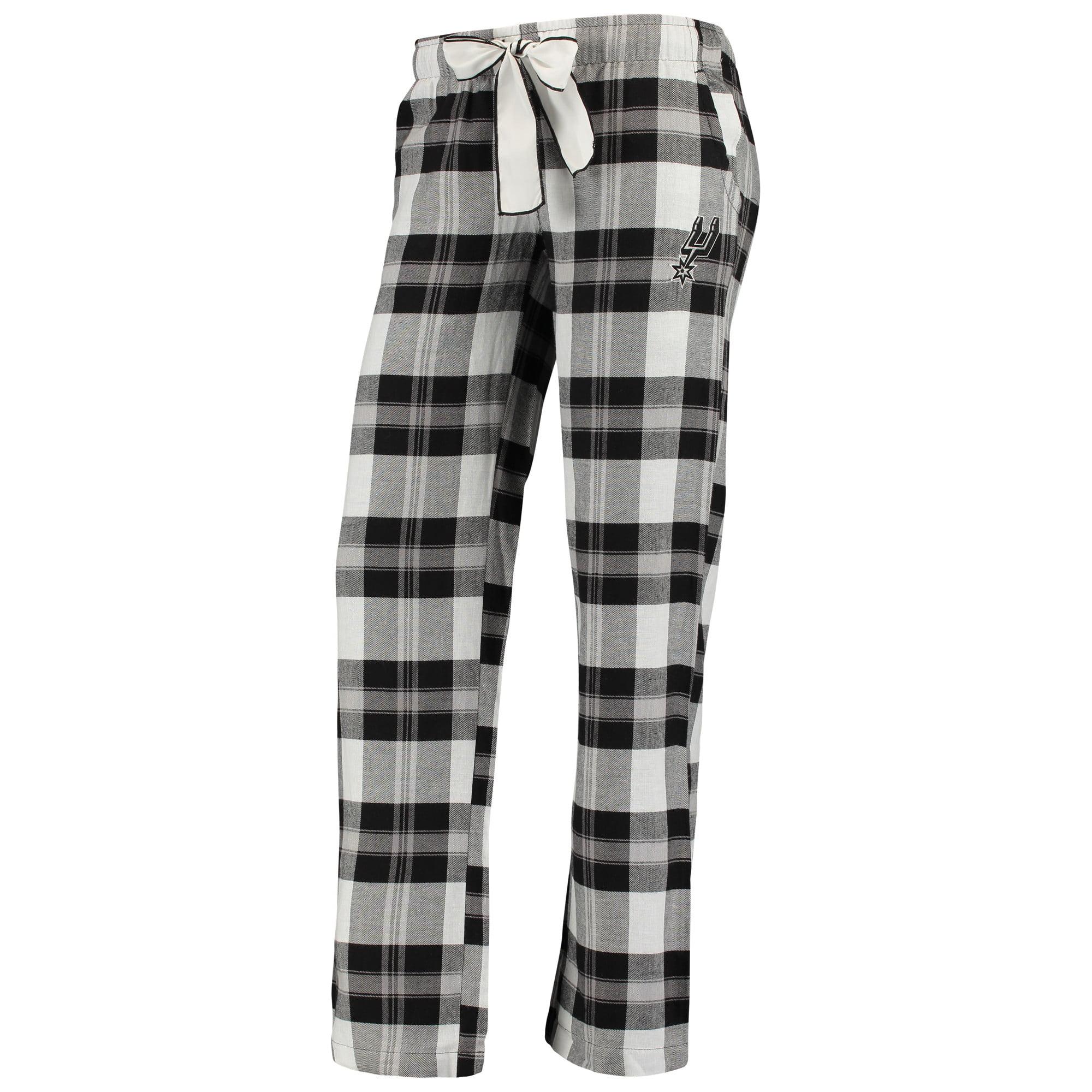 San Antonio Spurs Women's Flannel Pajamas Plaid PJ Bottoms