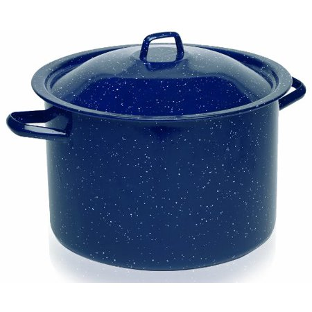 IMUSA USA 6 Quart Blue Enamel Stock Pot