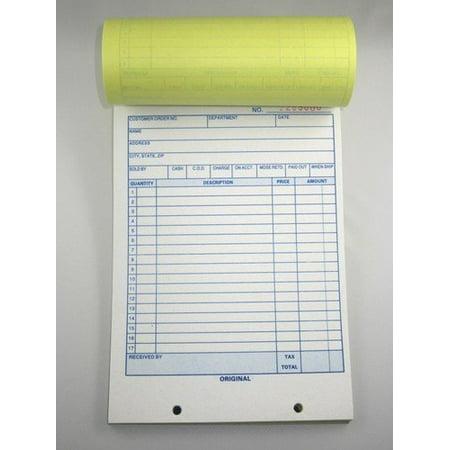 Large Sales Order Book Receipt Invoice Duplicate Carbon Copy 50 Sets 5.5 X 85 by MegaDeal