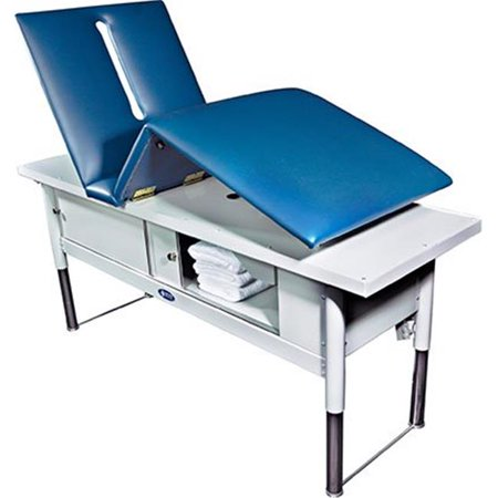 Fabrication Enterprises 15-5081 500 Ibs Tri W-G Treatment Table, Motorized Hi-Lo, Raised Back & Knee - 28 x 80 in. - image 1 of 1