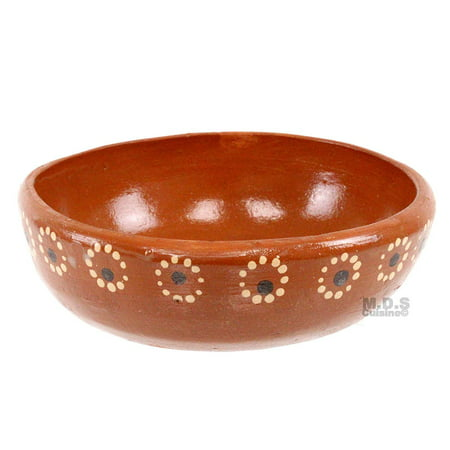 Plato Pozolero Bowl De Barro Traditional Authentic Mexican Artisan Floral 100% Lead Free Clay Soup Pozole Menudo Caldo Bowls ()