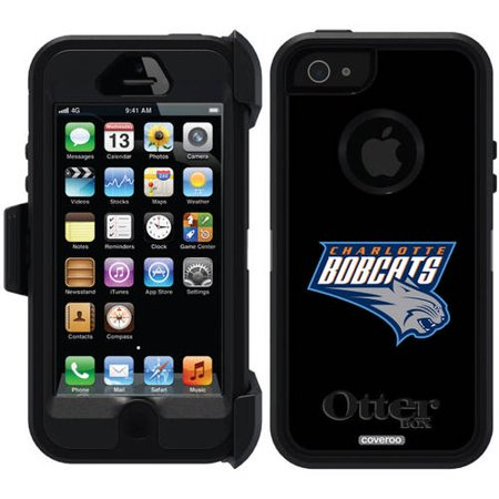 Charlotte Bobcats Design on OtterBox Defender Series Case for Apple iPhone 5 5s by