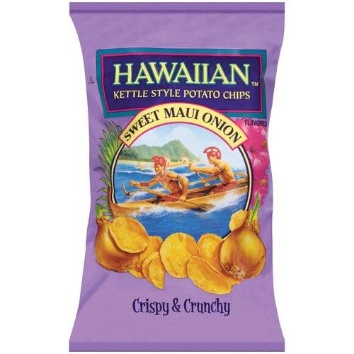 Hawaiian Kettle Style Sweet Maui Onion Potato Chips, 2 oz