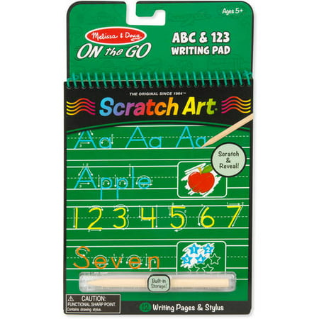 Melissa & Doug On the Go Scratch Art: ABC & 123 Writing Pad With Stylus