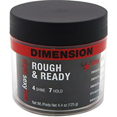 Style Sexy Hair Dimension Rough & Ready 4 Shine 7 Hold Styling Pudding 4.4